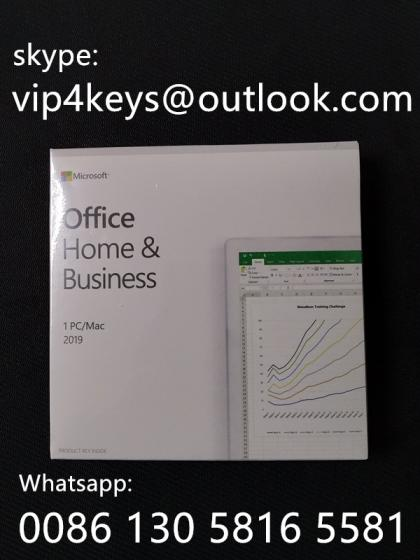 Office 2019 Home and Business PC Key Code Key Card Retail Sealed Package Box