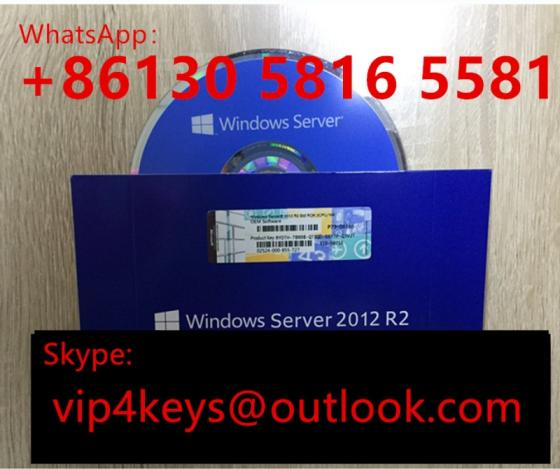 New Coa Sticker OEM DVD 64 Bit Win Server 2012 R2 Enterprise Datacenter Standard Full Version 5CAL