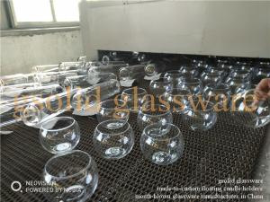 Wholesale float glass: Mouth Blown Glass Floating Candle Holders Cups