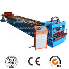 Wholesale metal roof machine: Glzed Tile Making Machine /Glazed Galvanised Metal Roofing Tiles Roll Forming Machine