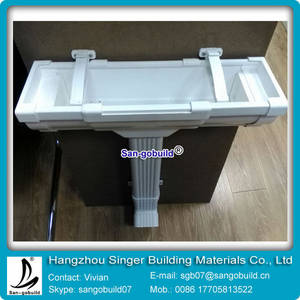 Wholesale downspout: 5.2 Inch Square PVC Gutter System and Downspout