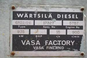 Wholesale r22: Marine Diesel Engine Set WARTSILA 6R22/26