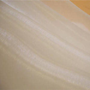 Wholesale raw silk: Sparkle Ivory Organza Silk Fabrics for Wedding Dress