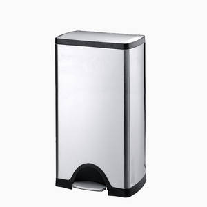 Wholesale Waste Bins: Stainless Steel Foot Pedal Kitchen Trash Dust Bin