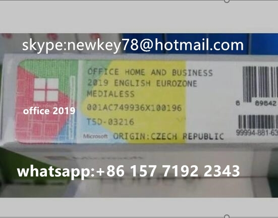 Sell New Office 2016 Pro Plus Coa Sticker 100%Key Online Activation with Retail