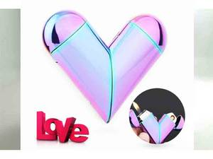 Wholesale metal usb: Heart-shaped Metal USB Electronic Charged Lighter Cigarette Lighter