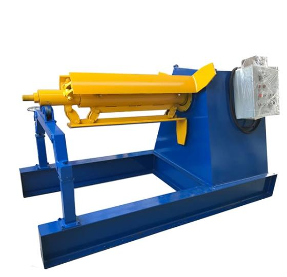 5T/8T/10T/15T Hydraulic Steel Coil Decoiler Heavy Uncoiler with Coil Car Sheet Metal Decoiler