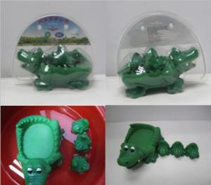 Wholesale blister packing: VINYL Crocodile Bath Toy Set Packed Into Blister