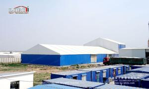 Wholesale pvc flooring roll: Industrial Warehouse Tent ABS Sidewall Thermo White Roof for Outdoor Building