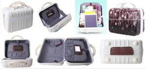 Wholesale cosmetic mirror: Light Weight ABS PC 14 Inch Mini Cosmetic Case with Mirror