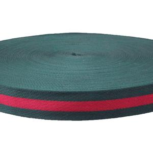 Wholesale Webbing: Wholesale 1 1/4 Inch Green and Red Polyester Webbing for Bag