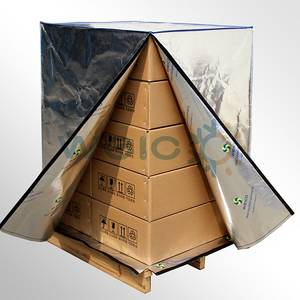 Wholesale pallet cover: Aluminum Foil Woven Fabric Thermal Pallet Cover for Transportation