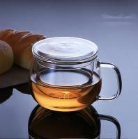 Personal Borosilicate All Glass Made Tea Cup with Strainer