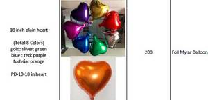 Wholesale Inflatable Toys: Various Plain & Solid Decoration Foil Mylar Balloons