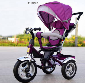 Wholesale folding bicycle: Tagalan 3 Wheels Folding Bicycle 16inch Pushchair Mother Baby Stroller Bike Carrier 3 in 1 with Cano