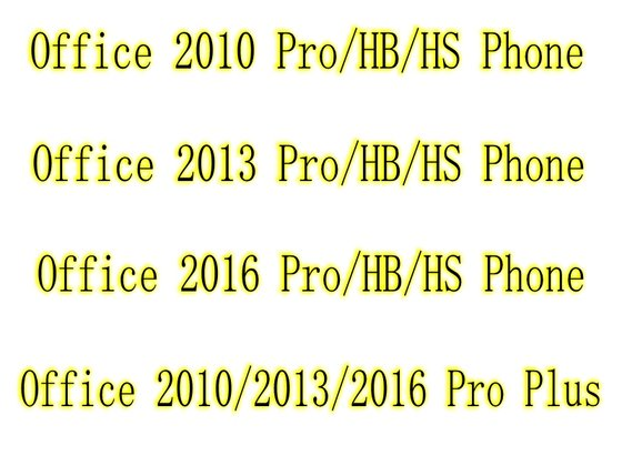 Office 2010 Office 2013 Office 2016 Pro HB HS OEM Key & Fpp Pro Plus Online & Phone Activation