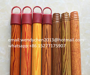 Wholesale broom: 22mm Diameter Wooden Broom Stick,Wooden Broomstick Coated in PVC with Competitive Price