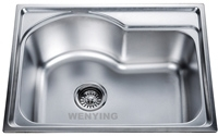 Wholesale 430 stainless steel: Romania Hot Sale Deep Bowl Stainless Steel Sink for Kitchen 580*430mm Size