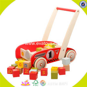 Wholesale baby walker: 2017 Wholesale New Products Baby Wooden Push Along Walker  W16E067