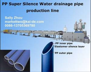 Wholesale pp pipe: Super Silent PP Drainage Pipe Making Machine