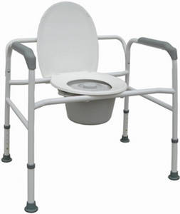Wholesale rollator walker hearing aids: reclining Commode Wheelchair, Folding Commode Chair, Extra Wide Commode Chair