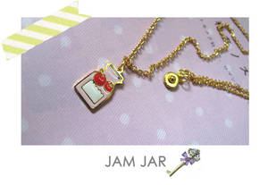 Wholesale jams: 14k Gold Enamel Handmade Jam Jar Necklace