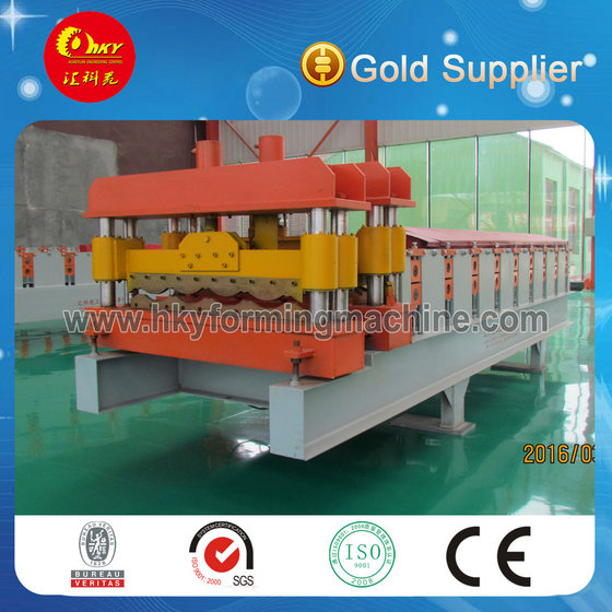 Glazed Tile Metal Roofing Sheets Roll Forming Machine China Manufacturer 2014
