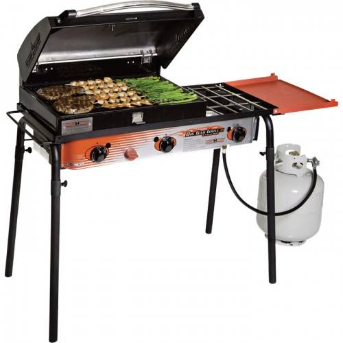 Solar Water Heaters: Sell Camp Chef Big Gas Grill - 3-Burner Stove with Deluxe Grill Box