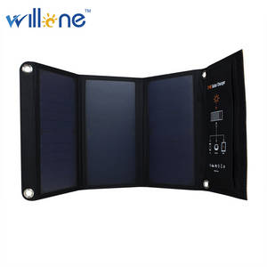 Wholesale mobile phone charger: Willone Solar Power Charger Backpack Solar Panel Power Bank 11W for Ipad Mobile Phone