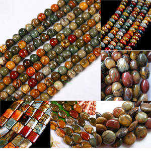 Wholesale Other Gemstones: Picasso Jasper Gemstone Loose Beads