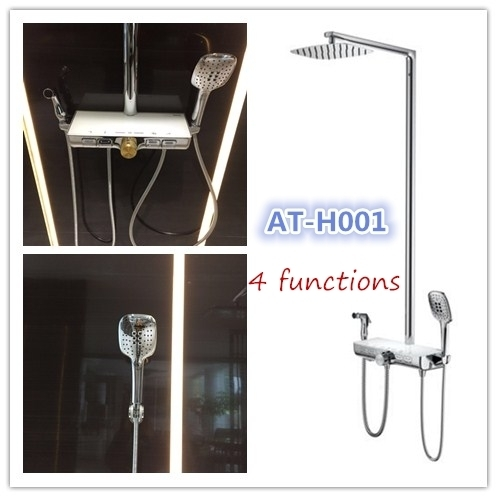 Sell 2018NEW thermostatic shower set AT-H001 4functions shower column