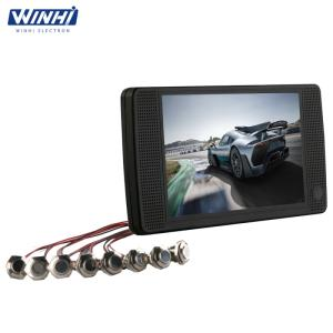 Wholesale hd player: 7inch HD Plastic Shell Supermarket Video Player Loop Push Button LCD Mall Advertising Display