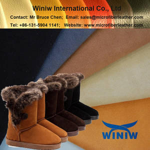 Wholesale snow boot: Microfiber Suede Leather for Snow Boots