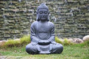 Wholesale buddha statue: Buddha Statue  with Stone Finish