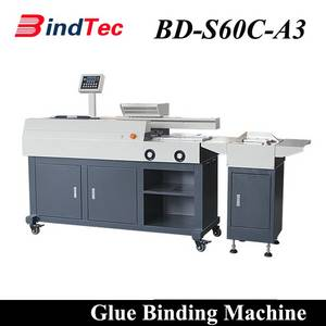 Wholesale autoamtic machine: BD-S60C-A3 Factory Direct Automatic Hot Melt Glue Perfect Book Binder Binding Machine