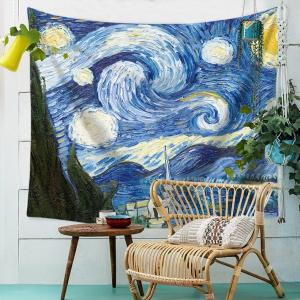 Wholesale home decorative: Van Gogh Painting Art Wall Tapestry Sunflower Pattern Abstract Painting Home Decorative