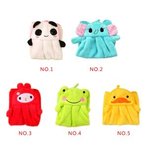Wholesale Home Textile: Cute Animal New Candy Colors Soft Coral Velvet Cartoon Animal Towel Can Be Hung Kitchen Used