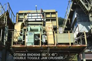 Wholesale motor: Used OTSUKA Model BND6048 (60inch X 48inch) Double Toggle Jaw Crusher (Without Motor)