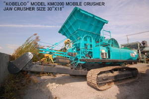 Wholesale mobile: USED KOBELCO KMC200 MOBILE CRUSHER WITH JAW CRUSHER etc.