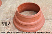 New Concave Ring of Kobe Allis-chalmers 4-36 Hydro Cone Crusher *code No. 4-36-A