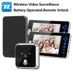 Wholesale outdoor wall lamps: Hot Battery Operated 7inch Monitor Wireless Peephole Viewer