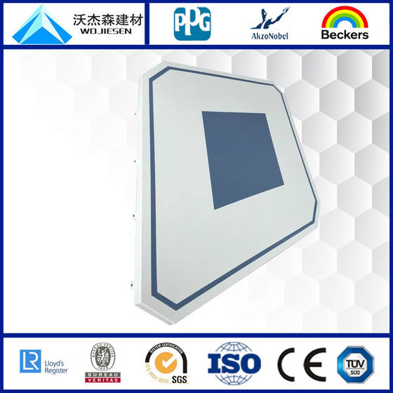 curtain panels: Sell curtain wall aluminum single panel with PVDF Coating