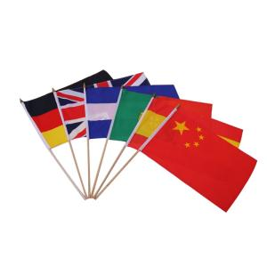 Wholesale Flags, Banners & Accessories: Professional Flag Supplier Factory Direct Durable Polyester Custom Hand Waving Flag with Wooden and