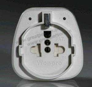 Wholesale universal travel adapter: European Universal Safety Travel Adapter W/Surge Protector