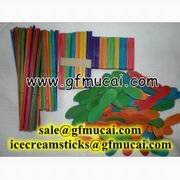 Wholesale crafts: Birch Wood Craft Color Sticks