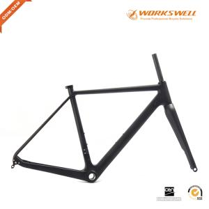 Wholesale brake discs: Disc Brake Cyclocross Bike Carbon Frame with Fork DI2 and Machine Compatible