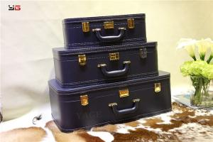 Wholesale wooden: New Design Wooden PU Decorative Home Leather Travel Suitcase/Storage Box