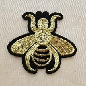 Wholesale Badges & Patches: Gold Embroidery Patches,Custom Gold Silver Embroidery Patches, EmbroideryPatchAdhesive,Patches