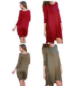 Wholesale casual dresses: Patchwork Round Neck Mini Dress Solid Sexy Long Sleeve Shaping Dress Natural Casual Ruffles