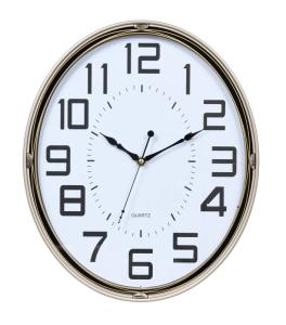 Wholesale wall clock: Oval Wall Clock Silent Easy To Read